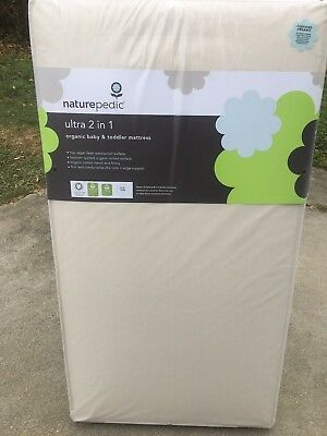 Naturepedic Organic Cotton 2-in-1 Ultra Crib Mattress NEW