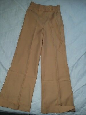 "Vintage 70s polyester ""College Town"" brand womens bell bottom pants - VTG 1970s"