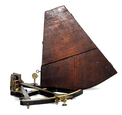 19th C SPENCER, BROWNING & RUST of LONDON OCTANT NAUTICAL SHIP SEXTANT ORIG. BOX
