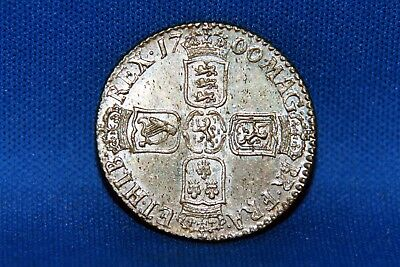 1700 Great Britain Shilling Coin High Grade King William III