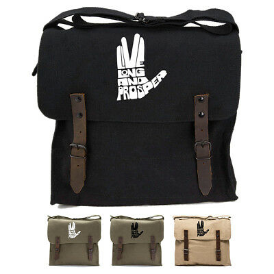 8ffa6fe7f1 Live Long And Prosper Hand With Text Army Heavyweight Canvas Medic Shoulder  Bag