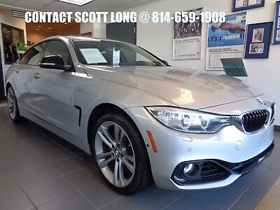 2015 BMW 4-Series Certified 2015 428Xi Gran Coupe Silver 2015 BMW 428i XDrive Gran Coupe AWD Sport Line Tech Package Premium Side Camera