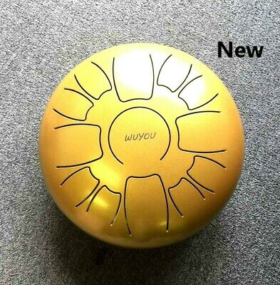 12 in WuYou Chakra Steel Tongue Drum, Hand Pan, Special Notes, Peaceful Melody