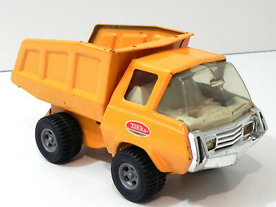 Vintage 1960's Tonka Yellow Dump Truck Toy Pressed Steel