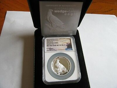 2016 Australia Silver Wedge Tailed Eagle Proof High Relief NGC PF70 Ultra Cameo