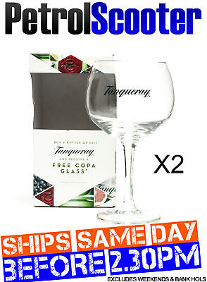 2 Tanqueray Copa Goblet Glass Gin Cocktail Wine Boxed New Balloon Gift Present