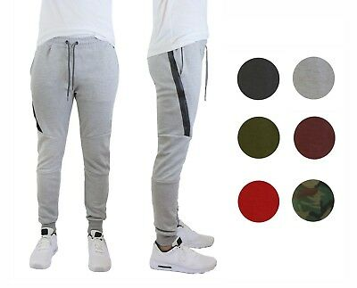 Mens Fleece Jogger Pants Sweatpants Active Performance Slim Fit Warm NWT