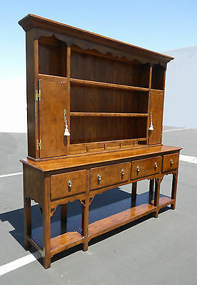 Vintage French Country Cottage Hutch Buffet Sideboard by HENREDON