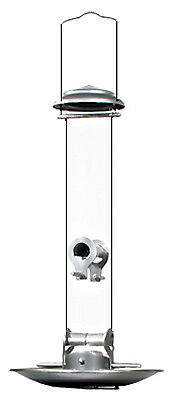 Woodlink NASIL Silver Tube Bird Feeder, 16-1/2 Inch