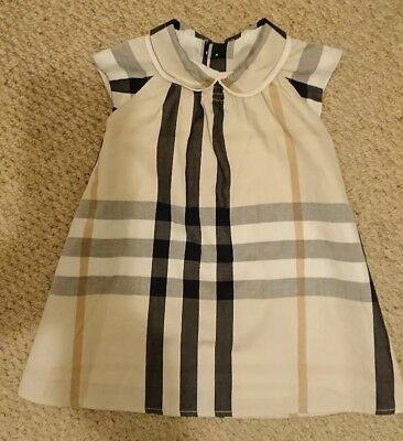 Burberry baby girls dress. Age 3 months
