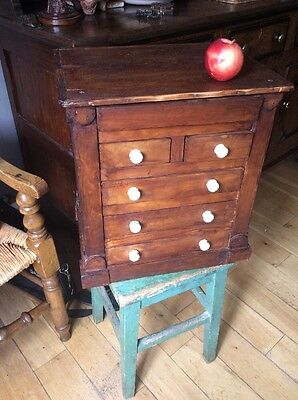 Large Miniature Chest Of Drawers Victorian Antique Run Spice Jewellery Box