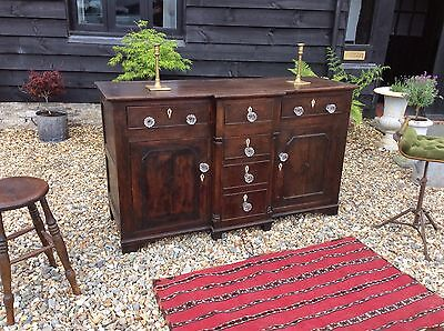 19th Century Dresser Base Run Of Drawers Apothecary Cupboard Haberdashery Store