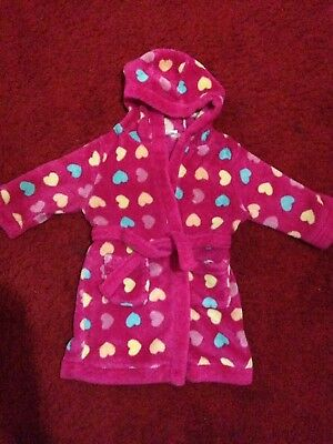 12-18m Fluffy Pink Dressing Gown