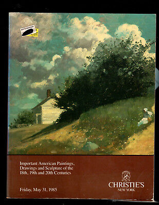 Christie's Auction Catalog Ny 05/31/85 American Paintings & Sculpture With Price