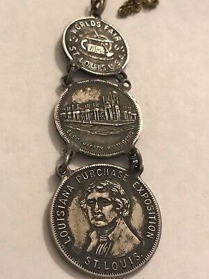 1904 Louisiana Purchase Exposition St Louis Medals Watch Fab