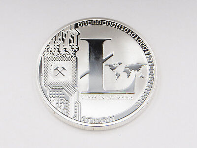 LITECOIN Commemorative Silver-Plated Novelty Coin, Gift Idea, Stocking Stuffer!