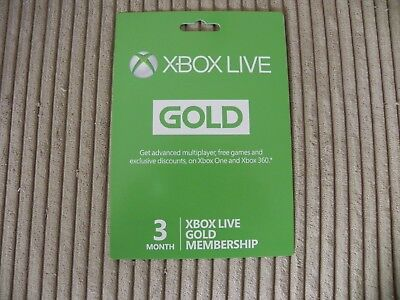 Xbox Live 3 Month Subscription Code
