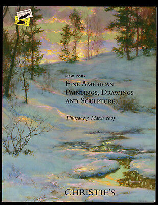 Christie's Auction Catalog Ny 03/03/05 American Paintings Sculpture Drawings