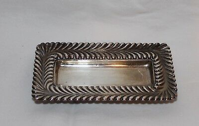 Vintage Tiffany & Co Sterling Silver Pin Dish Footed Pin Tray