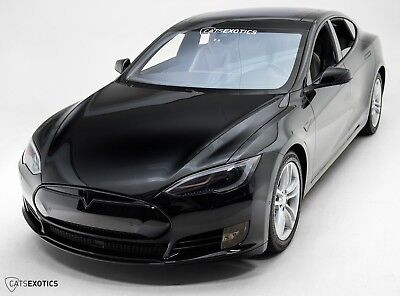 2014 Tesla Model S P85D Factory Warranty - Alcantara Headliner - CF Rear Spoiler -