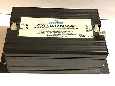Leviton 51020-WM Transient Voltage Surge Suppressor & Noise Filter