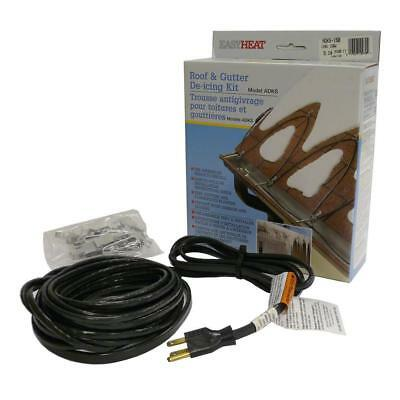 Easy Heat ADKS-1000 Roof & Gutter De-icing Cable Kit 200' Ready to Install  NEW