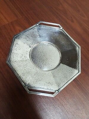 Antique Homan Plate on Nickel Silver Made in USA 0351 decor Tray
