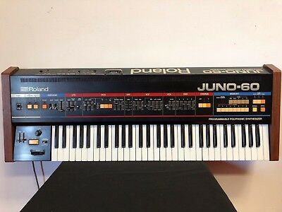 Roland Juno 60 Vintage Polyphonic Analogue Synthesiser Synth Serviced 106 6 240V
