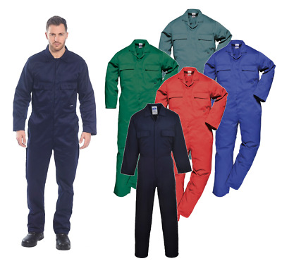 Portwest Euro Work Polycotton Welder Mechanic Overall Coverall Boiler Suit S999
