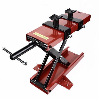 Motorcycle Scissor Jack 1100 LB  Lift Jack ATV Dirt Bike Scooter Crank Stand