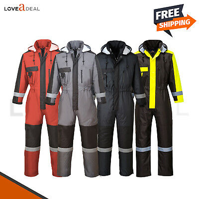 Portwest Insulated Winter Overall Coverall Thermal Waterproof Boiler Suit S585