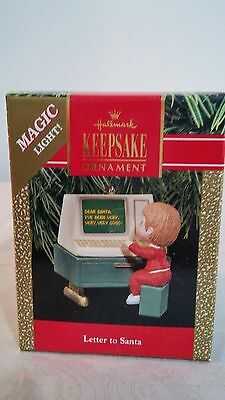 Hallmark Keepsake '' Letter to Santa '' Magic Christmas Ornament