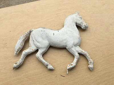 "HORSE WEATHERVANE FIGURE 11"" Running Horse Tin Steel Horese UNMARKED Rustic"