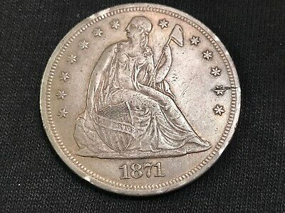 1871 Liberty Seated Silver Dollar-Rare Quality Coin Offered