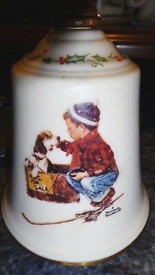 "Norman Rockwell Gorham Fine China ""A Boy Meets His Dog"" 1979 Christmas 8 3/4"""
