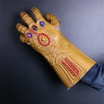 Thanos Infinity Gauntlet Cosplay Avengers Infinity War Thanos Gloves Props Latex