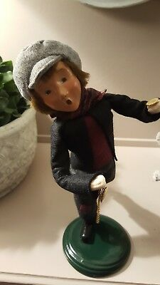 Byers Choice Caroler Pick Pocket Boy with Coin/Watch Signed by Joyce Byers