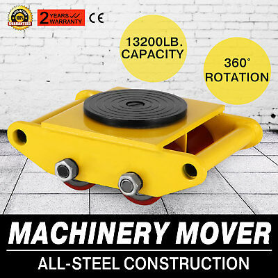 RED Machinery Mover with 360°Rotation Cap 13200lbs 6T 13K pd Swivel Top 6T