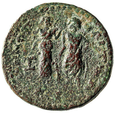 "RARE & LARGE 27mm Coin of Valerian I of Irenopolis-Neronias ""Hygeia & Asklepios"""