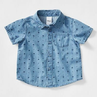 NEW Baby Palm Print Shirt Size 12-18 Months