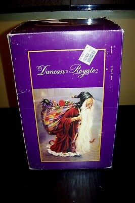 Duncan Royale Medieval Santa Music Box Plays Silent Night Numbered 5031/10000