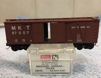 N Scale MTL 40' MKT Automobile Outside Braced Standard Box Car #29040