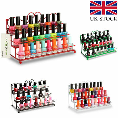 🔥3 Tier Metal Nail Polish Shelf Display Mount Varnish Rack Lipstick Holder Gift