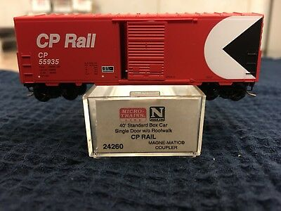 N Scale Micro Train Lines CP RAIL 40' Standard Box Car #24260