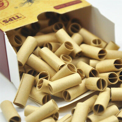 1 Pack/120pcs PRE ROLLED Natural UnRefined Cigarette Filter Rolling Paper Tips