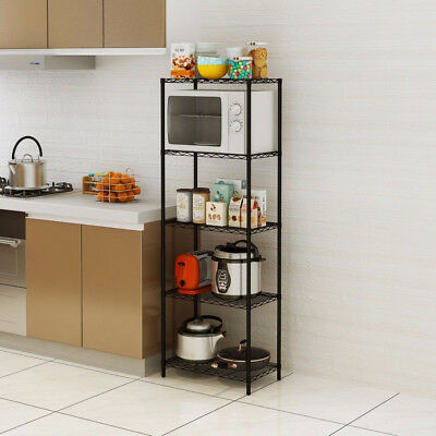 Wire Shelving 5 Tier Metal Storage Rack Shelf 5 Shelf Shelves Unit Kitchen