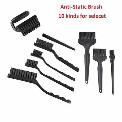10 Kind Black Plastic Handle ESD Anti-Static Brush For PCB Repair Cleaning