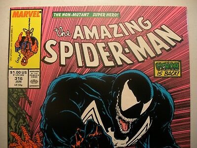 AMAZING SPIDER-MAN 316 NM 9.4 to NM+ 9.6 TODD MCFARLANE NM NM+ 2ND VENOM! NM NM