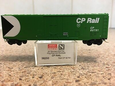 N Scale Micro Train Lines CP RAIL 50' Standard Box Car #38250