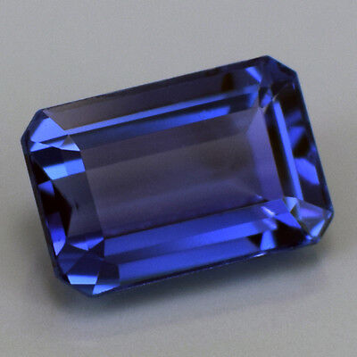 Emerald Cut 2.72 Ct 100% Natural Tanzanite Violet-Blue Ring Size High-End AAAA
